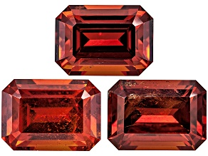 Garnet Spessartite 7x5mm Emerald Cut Set 4.24ctw