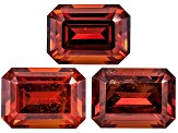 Garnet Spessartite 7x5mm Emerald Cut Set 4.24ctw