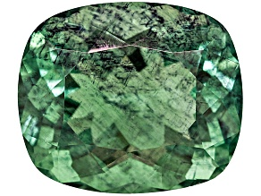 Green Fluorite Untreated 17.98x15.27mm Rectangular Cushion 22.37ct