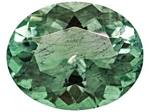 Green Fluorite Untreated 13.22x10.64mm Oval 6.36ct