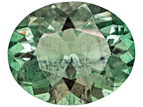 Green Fluorite Untreated 13.05x10.63mm Oval 5.39ct