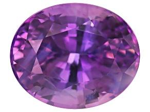 Purple Sapphire Unheated 9.1x7.5x5.56mm Oval Mixed Step 3.00ct
