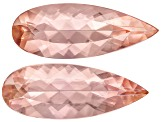 Imperial Topaz Untreated 11.4x4.3mm Pear Shape Matched Pair 2.22ctw