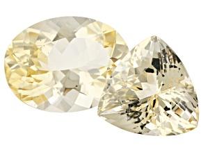 23.33ct Yellow Labradorite Varies mm Set Of 2 Varies Shape