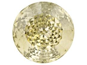 Yellow Labradorite 15mm Round Quantum Cut 10.97ct