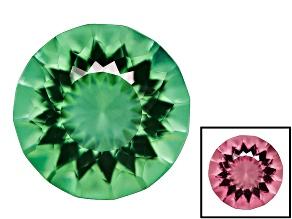 Created Color Change Zandrite Single Loose Gemstone 4ct 10mm Round