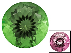 Green To Purplish Pink Zandrite Color Change 12mm Round 5.75ct