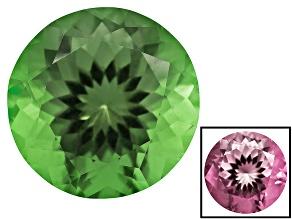 Green To Purplish Pink Zandrite Color Change 12mm Round 5.75ct