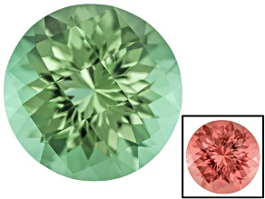 Green To Purplish Pink Zandrite Color Change 10mm Round Checkerboard Cut 3.40ct