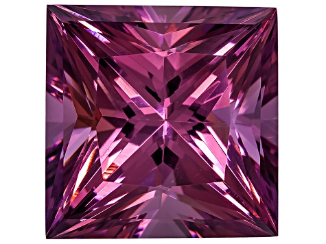 Cranberry Zandrite Color Change 12x12mm Square Princess Cut 10.15ct