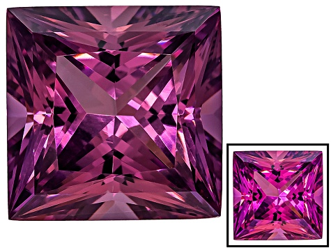 Cranberry Zandrite Color Change 14x14mm Square Princess Cut 15.20ct