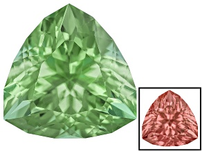 Green To Purplish Pink Zandrite Color Change 10mm Trillion Specialty Cut 3.25ct