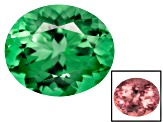 Green To Purplish Pink Zandrite Color Change Lab Created 12x10mm Oval Brilliant Cut 4.50ct