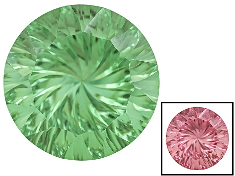 Green To Purplish Pink Zandrite Color Change Lab Created 14mm Round 8.25ct