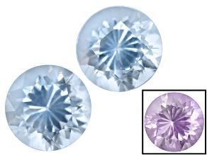 Blue To Purple Zandrite Color Change 6mm Round Brilliant Set 1.25ctw