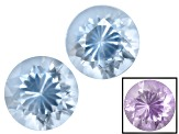 Blue To Purple Zandrite Color Change 6mm Round Brilliant Set 1.25ctw