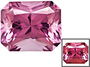 Lab Created Cranberry Zandrite 12x10mm Radiant Cut 6.50ct