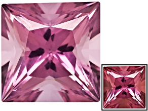 Lab Created Color Change Cranberry Zandrite 10mm Square Princess Cut 5.50ct