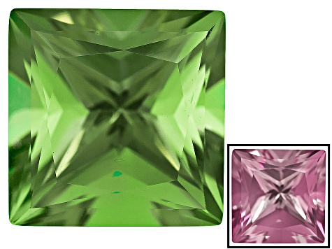 Lab Created Green Color Change Zandrite 4.00ct 10mm Square Princess Cut