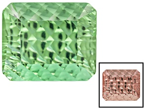 Created Green Color Change Zandrite 5.50ct 12x10mm Rectangular Octagonal Phantom Cut