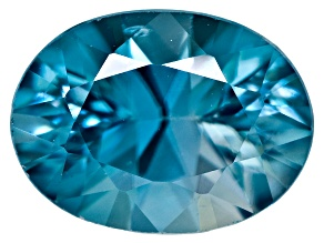 Blue Zircon 8x6mm Oval 1.60ct Mixed Cut