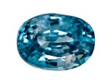 Blue Zircon 7x5mm Oval 1.15ct Mixed Cut
