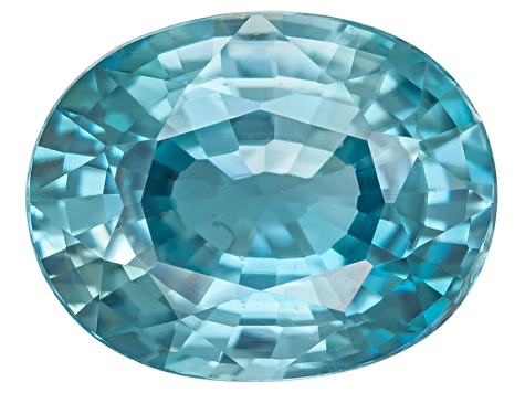 Blue Zircon 9x7mm Oval Mixed Step 2.50ct
