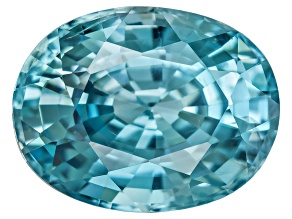 Blue Zircon 9x7mm Oval  2.50ct