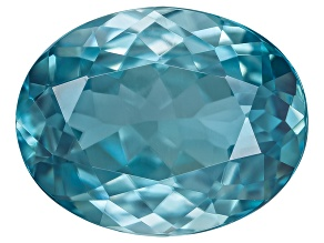 Blue Zircon 10x8mm Oval Step Cut 3.15ct
