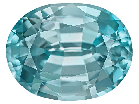 Blue Zircon 9x7mm Oval Mixed Step 2.75ct