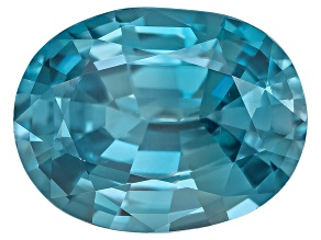 Blue Zircon 9x7mm Oval Mixed Step 2.00ct