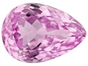 Kunzite 7.30ct 14x10mm Pear Trtd Mined: Afghanistan / Cut: india