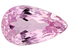 Kunzite 20.95ct 22.4x13.8mm Pear Trtd Mined: Afghanistan / Cut: india