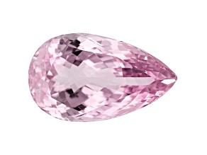 Kunzite 33.17ct 27x16mm Pear Trtd Mined: Afghanistan/Cut: india