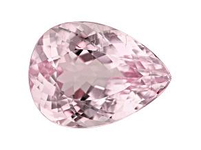 Kunzite 23.44ct 22x16mm Pear Trtd Mined: Afghanistan/Cut: india