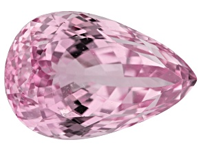 Kunzite 41.35ct 25x17mm Pear Trtd Mined: Afghanistan/Cut: india