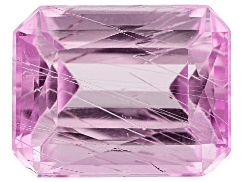 Tubular Kunzite 6.90ct 12.3x9.7mm Rec Oct Trtd Mined: Afghanistan/Cut: india