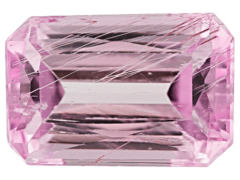 Tubular Kunzite 8.27ct 14.3x9.5mm Rec Oct Trtd Mined: Afghanistan/Cut: india