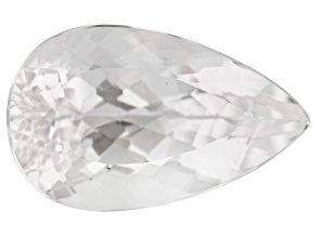 Colorless Spod 21.59ct 23.5x14mm Pear Trtd Mined: Afghanistan/Cut: india