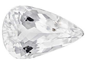 Colorless Spod 12.71ct 20x13mm Pear Trtd Mined: Afghanistan/Cut: india