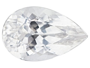 Colorless Spod 4.86ct Set Of 2: 14x9mm Pear Trtd Mined: Afghanistan/Cut: india