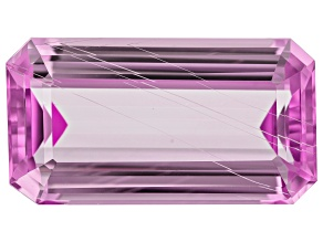 Tubular Kunzite 55.15ct 32.5x17.5mm Rec Oct Trtd Mined: Afghanistan/Cut: india