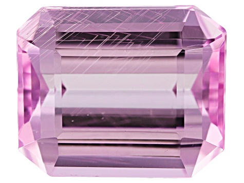 Tubular Kunzite 6.17ct 11.8x9.7mm Rec Oct Trtd Mined: Afghanistan/Cut: india