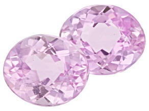 Kunzite 12x10mm Oval Matched Pair 10.80ctw