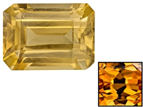Yellow Zircon Thermochromic 7x5mm Rectangular Octagonal 1.50ct