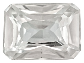 White Zircon 8x6mm Rectangular Octagonal 1.75ct