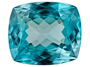 Blue Zircon 11.03ct 14.1X12.35mm rec cush