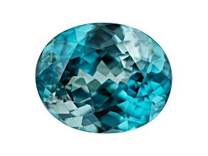 Blue Zircon 4.57ct 10.6X8.6mm oval