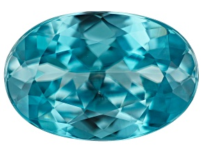 Blue Zircon 4.25ct 12X8mm oval