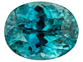 Blue Zircon 3.77ct 9X7mm oval